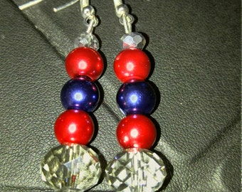 SALE!!! Blue, Red and multi clear Dangle