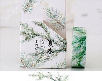 Washi Tape, Masking Tape, tape adhesive scrapbooking pine branch