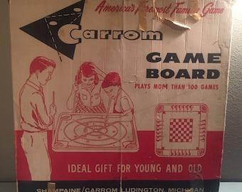 Vintage Carrom Game Board in Original Box