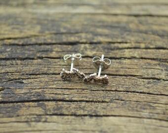 Petite Motorcycle Post Earrings Sterling Silver 0.7g