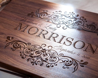 personalized wedding gift personalized cutting board wedding present bridal shower gift personalized