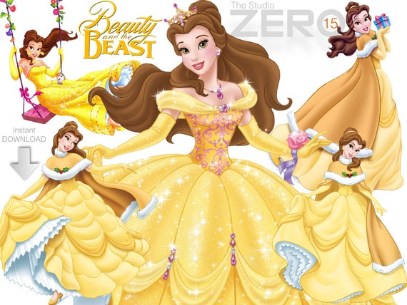 15 Disney Princess Belle Clipart Beauty and the Beast Digital