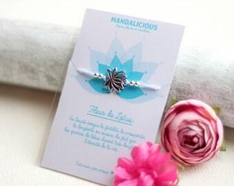 Bracelet lucky Lotus bracelet friendship luck symbol protection evil eye Bohemia