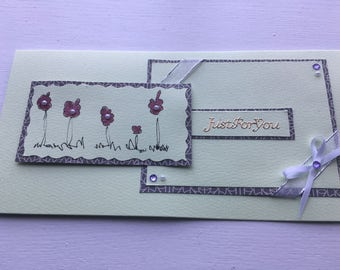 Just for you - handmade card