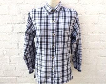 Flannel shirt, oversized 90's grunge fashion