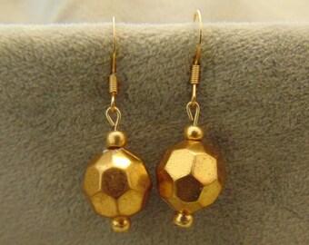 40% Off Drop Gold Bead Earrings