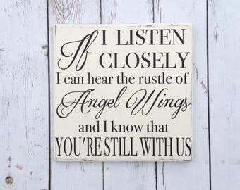 Angel Wings | Wood Sign | Stained Wood Sign | Home Decor | Wall Decor | Home