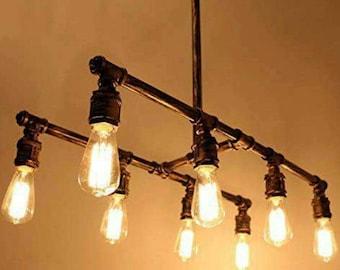 Vintage industrial Iron chandelier