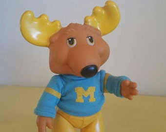 "Montgomery ""Good News"" Moose from the 1980's Get Along Gang. 6"" vinyl figure with sweater."