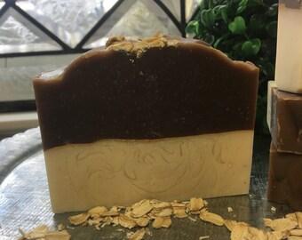 Oatmeal, Milk and Honey handmade soap with Goats Milk