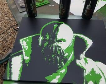 The shadows betray you(Bane/Dark knight/Batman/Comics/Spray art