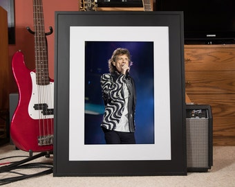 Mick Jagger, The Rolling Stones, Color Photo, Fine Art Print, 13x19 inches
