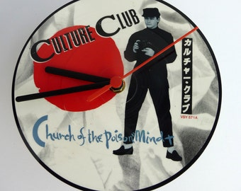"Culture Club - Church Of The Poison Mind - 7"" Picture Disc Record Clock"