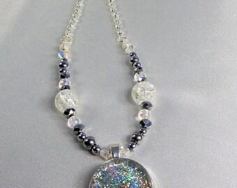 Snow Globe Jewelry Snow Globe Necklace, Globe Necklace Globe Jewelry, Glitter Necklace Sparkle Necklace, Snow Globe Jewelry Gift for Mom,