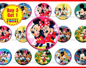 Mickey Mouse Bottle Cap Images - Mickey Mouse Images - Instant Download - High Resolution Images - Buy 3, Get 1 FREE