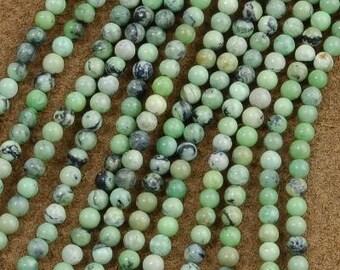4mm Chrysotine Beads 16 inch Strand- Gemstone Beads - Jewelry Supplies