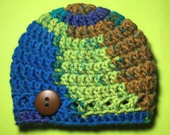 Newborn hat. Handmade hat. Crochet hat. Boy hat.