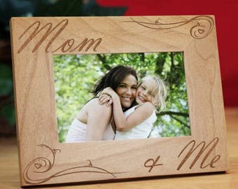 Personalized Mom and Me Picture Frame Custom Name Gift