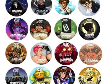 Overwatch Buttons - FULL SET