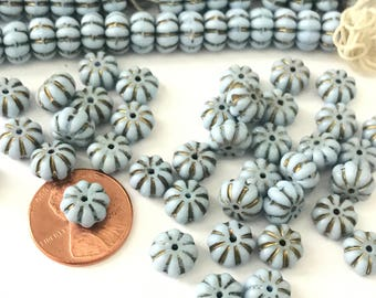 Vintage Egyptian Revival Glass Beads Made in Western Germany (24) // Neiger Style Egyptian Glass Beads