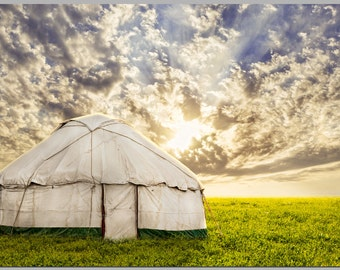 Single Panel Nomadic Yurt Print