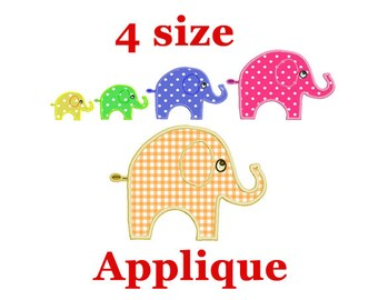 Elephant applique Embroidery Designs. Elephant embroidery. Elephant mini. Elephant Design. Embroidery for baby. For girls. For boys.