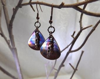 Hand Fired Copper Earrings