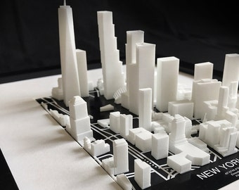 NEW YORK CITY, Manhattan - 3D image map - 23x32cm