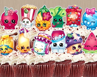 Shopkins Cupcake Toppers - Instant Download - Shopkins Cake Pop Toppers - Shopkins Birthday Party - Digital Download - Shopkins Theme Party