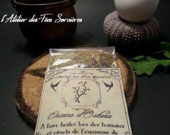 Encens rituel Ostara sabbat, célébration de l'équinoxe du printemps/ incense for Ostara sabbat ritual, spring equinox celebration