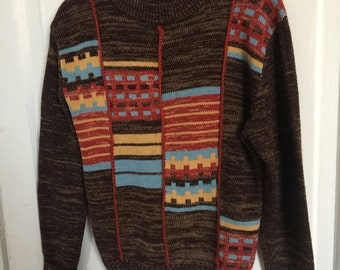 Vintage Sigallo Acrylic Patterned Sweater