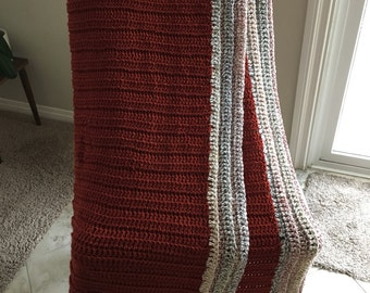 Rust Blanket with Trim