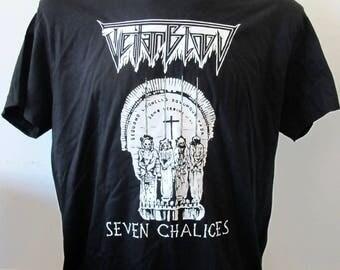T-shirt TEITANBLOOD - Seven Chalices [s-m-l-xl-xxl] Black Witchery Pseudogod Diocletian Bestial Raids Grave Upheaval Witchrist Revenge
