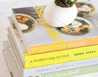 Styled Stock Photo | Vegetarian Cookbooks | Blog stock photo, stock image, stock photography, blog photography