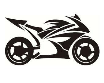 Motorcycle Sport Bike - Sticker/ Vinyl / Decal