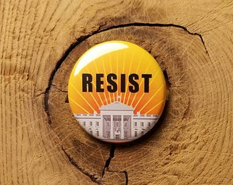 "Resist (1-1/4"" Pinback Button)"