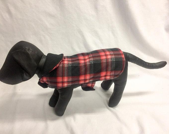 Red/Black Plaid 5 Dog Coat 1023