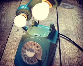 Retro Telephone Floating Lights (Dial Pal Blue)