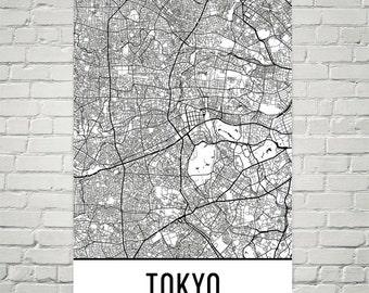 Tokyo Map, Tokyo Art, Tokyo Print, Tokyo Japan Art Poster, Tokyo Wall Art, Tokyo Gift, Tokyo Decor, Tokyo Art Print, Tokyo Map Art Print