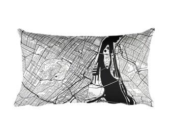 Montreal Pillow, Montreal Decor, Montreal Throw Pillow, Montreal Gift, Montreal Map, Montreal Art, Montreal QC, Montreal Throw, Cushion