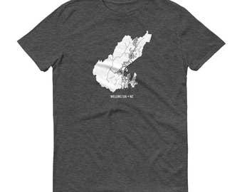 Wellington Shirt, Wellington, New Zealand, Wellington TShirt, Wellington Gift, Wellington Map, Wellington Tee, New Zealand Shirt, Map