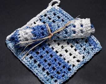 Cotton crocheted dishcloths
