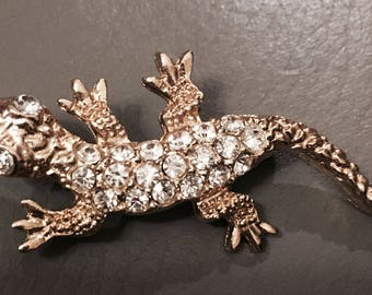 Vintage SARAH COV gecko iguana brooch 70s/80s