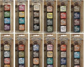 Tim Holtz Mini Distress Ink Kits - Multiple Sets