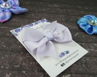 Pinwheel Hair Bow Clip - Purples