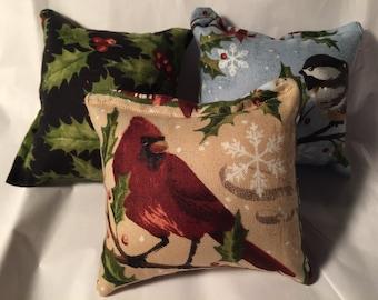 3 - Holiday print catnip pillow