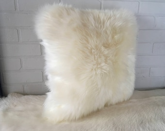 New large pillow from natural nordic sheep hide. FREE SHIPPING in USA and Canada