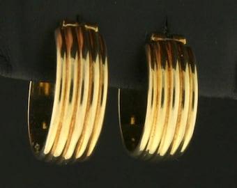 Italian Made Hoop Earrings