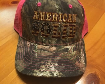 Pink camouflage hat