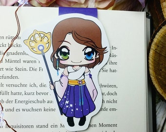 "LE magnetic bookmark ""Yuna"" - inspired by final fantasy x"